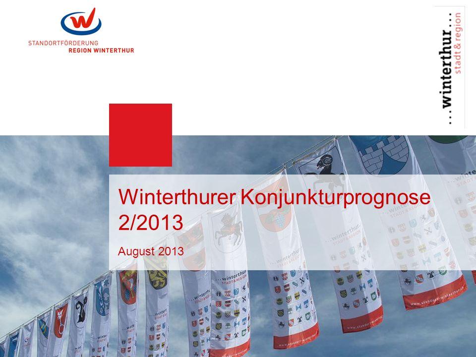Seite 1 Winterthurer Konjunkturprognose | 2/2013 Kommentar Die Winterthurer Konjunkturprognose gibt halbjährlich Auskunft über den Zustand des Wirtschaftsstandortes Winterthur.