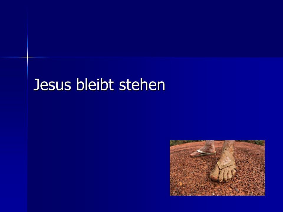Dieses Geschrei geht zu Herzen! Jesus bleibt stehen
