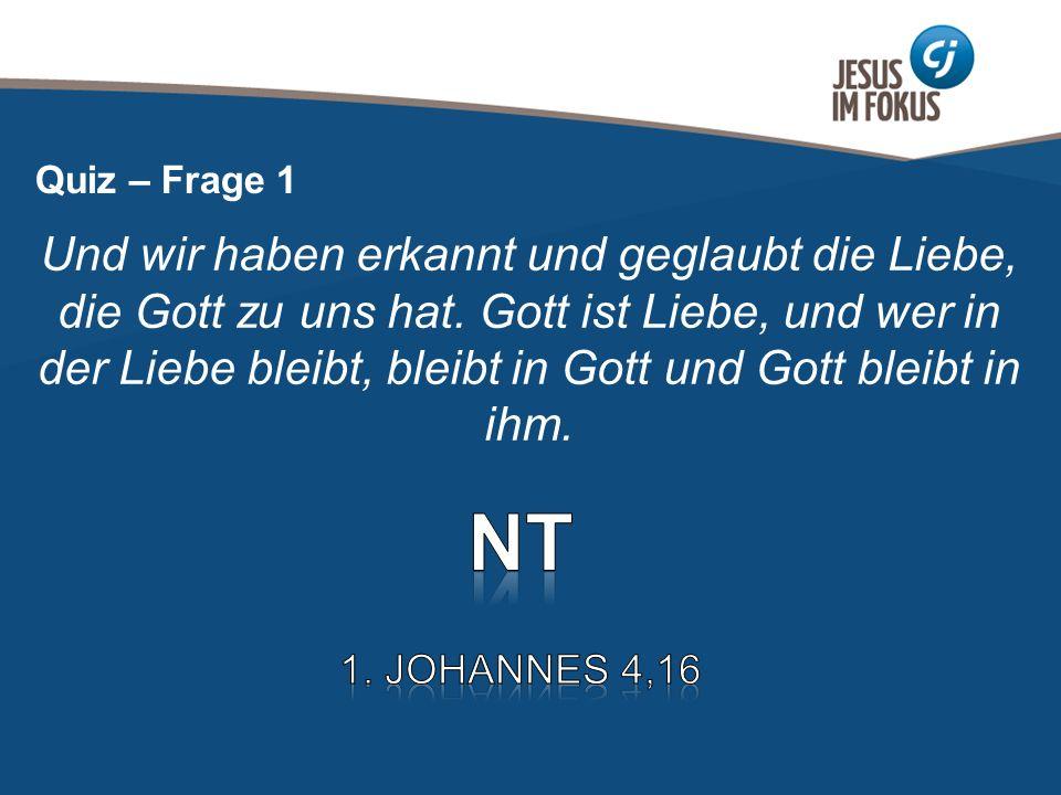 Page 3 Und wir haben erkannt und geglaubt die Liebe, die Gott zu uns hat. Gott ist Liebe, und wer in der Liebe bleibt, bleibt in Gott und Gott bleibt
