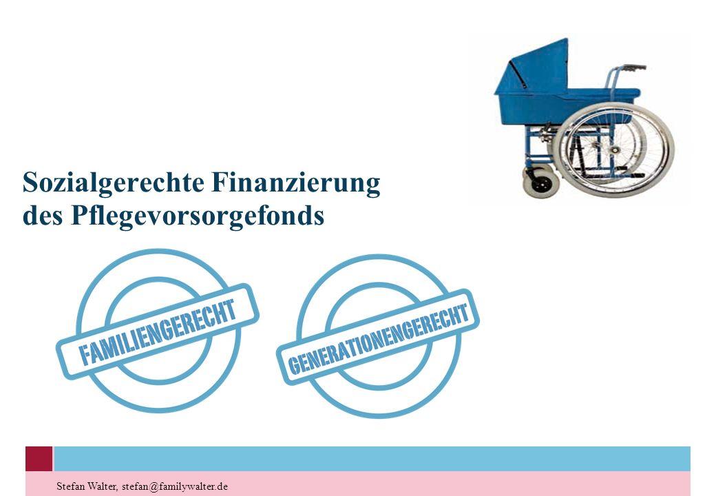 Sozialgerechte Finanzierung des Pflegevorsorgefonds Stefan Walter, stefan@familywalter.de
