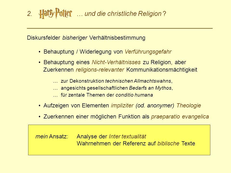 2. … und die christliche Religion ? _________________________________________________________________ Diskursfelder bisheriger Verhältnisbestimmung Be