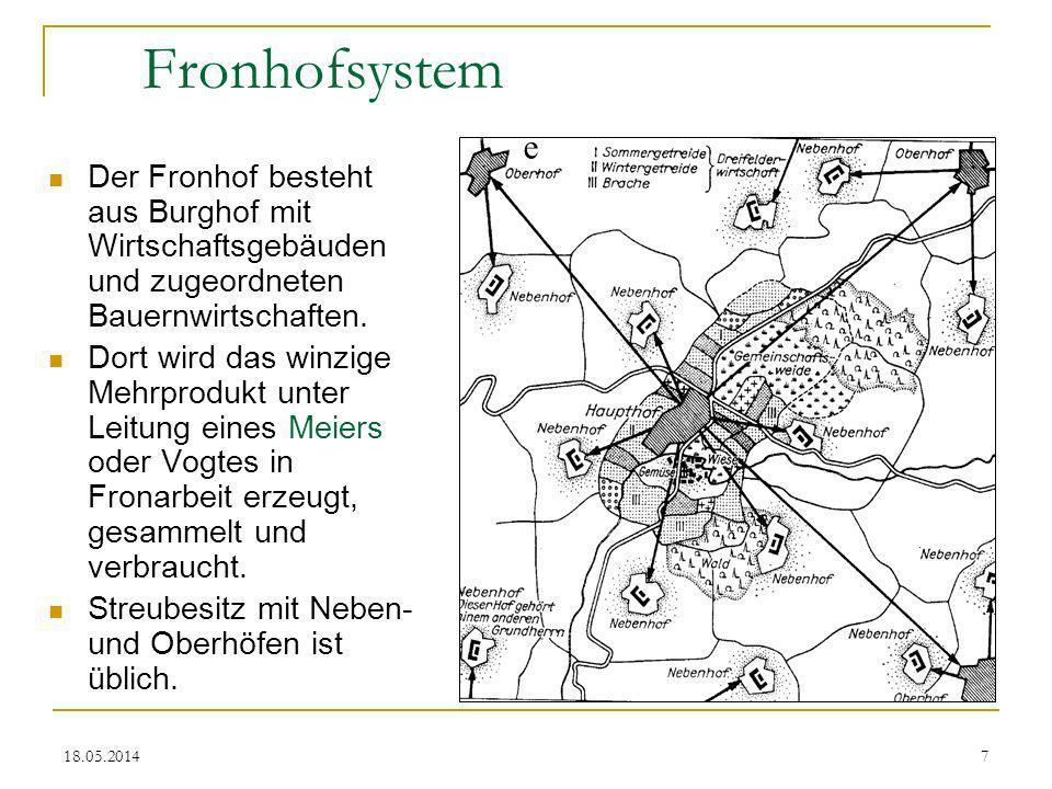 18.05.20148 2. Die agrartechnische Revolution des hohen Mittelalters