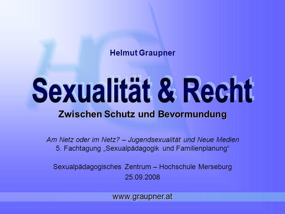 www.graupner.at I.Sexualität & Menschenrecht II. Sexualstrafrecht & Jugendschutz III.