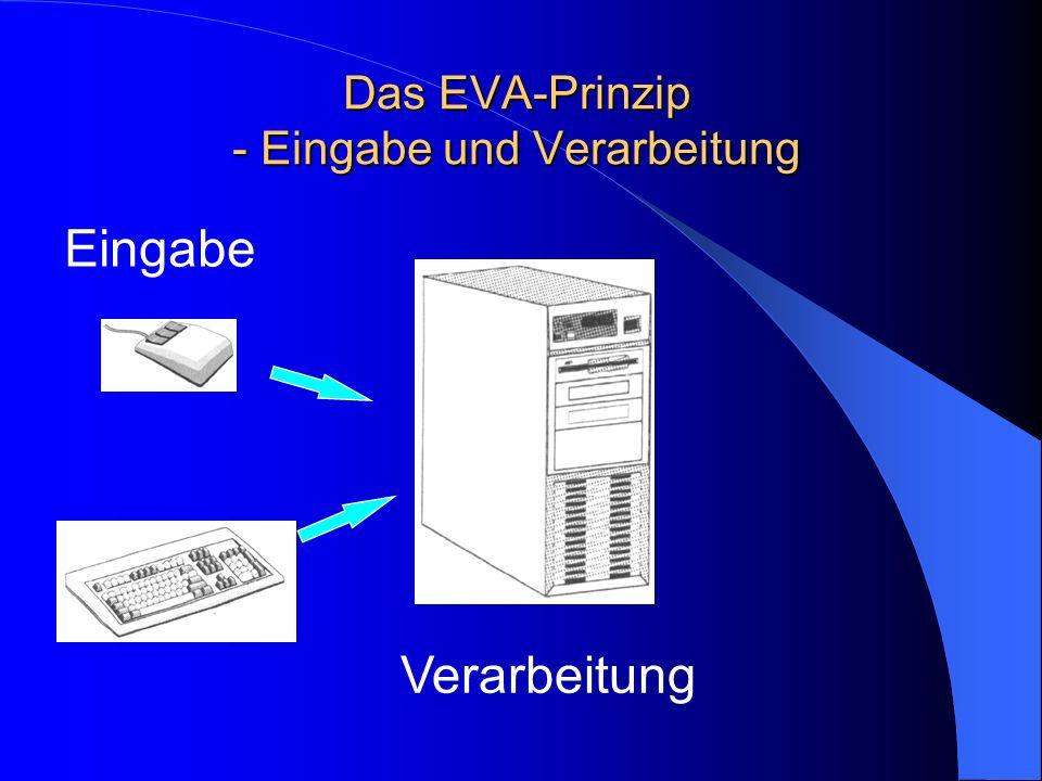 Das EVA-Prinzip - Eingabe und Verarbeitung Verarbeitung Eingabe