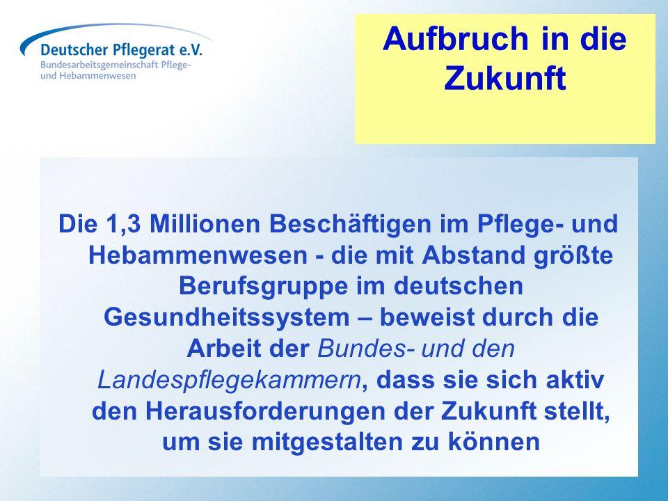Die 1,3 Millionen Beschäftigen im Pflege- und Hebammenwesen - die mit Abstand größte Berufsgruppe im deutschen Gesundheitssystem – beweist durch die A