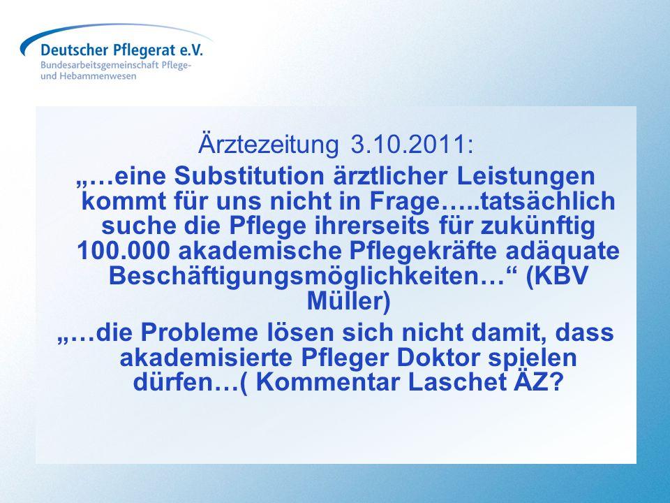 Die 1,3 Millionen Beschäftigen im Pflege- und Hebammenwesen - die mit Abstand größte Berufsgruppe im deutschen Gesundheitssystem – beweist durch die Arbeit der Bundes- und den Landespflegekammern, dass sie sich aktiv den Herausforderungen der Zukunft stellt, um sie mitgestalten zu können Aufbruch in die Zukunft