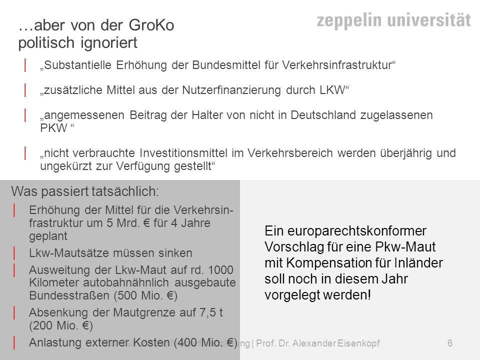 Zur Zukunft der Nutzerfinanzierung | Prof.Dr. Alexander Eisenkopf Kann die CSU-Maut gelingen.