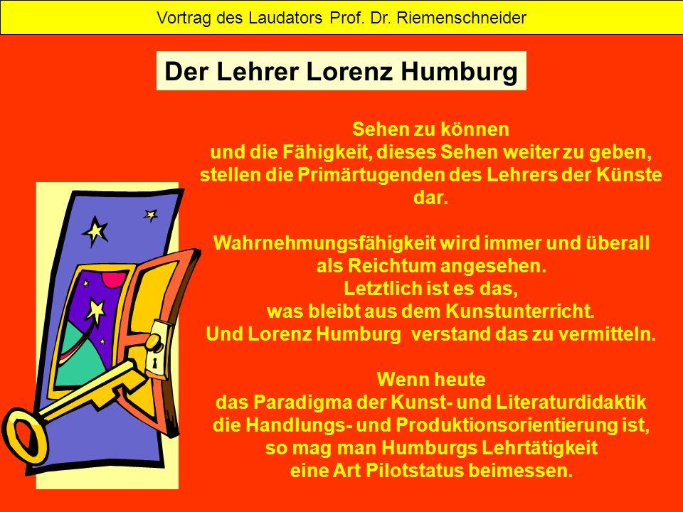 Das Werk Humburgs ist thematisch vielgestaltig und doch einheitlich in der stilistischen Entwicklung und Positionierung.