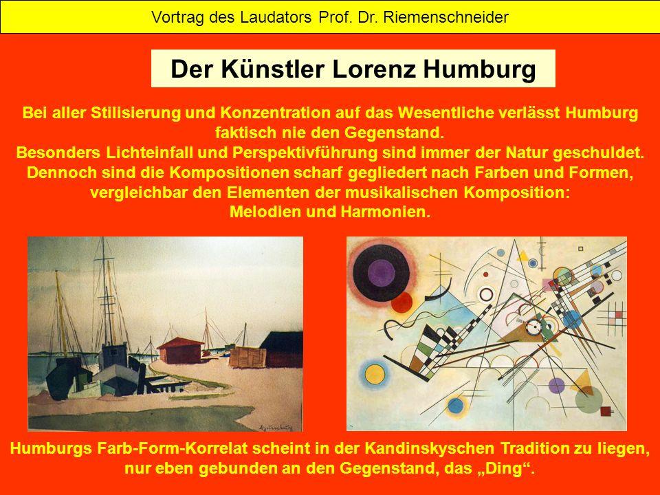 Bei aller Stilisierung und Konzentration auf das Wesentliche verlässt Humburg faktisch nie den Gegenstand. Besonders Lichteinfall und Perspektivführun
