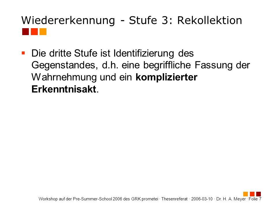 Workshop auf der Pre-Summer-School 2006 des GRK prometei · Thesenreferat · 2006-03-10 · Dr.
