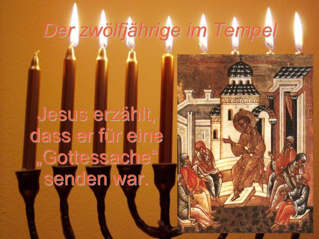 Der zwölfjährige im Tempel Jesus erzählt, dass er für eine Gottessache senden war.