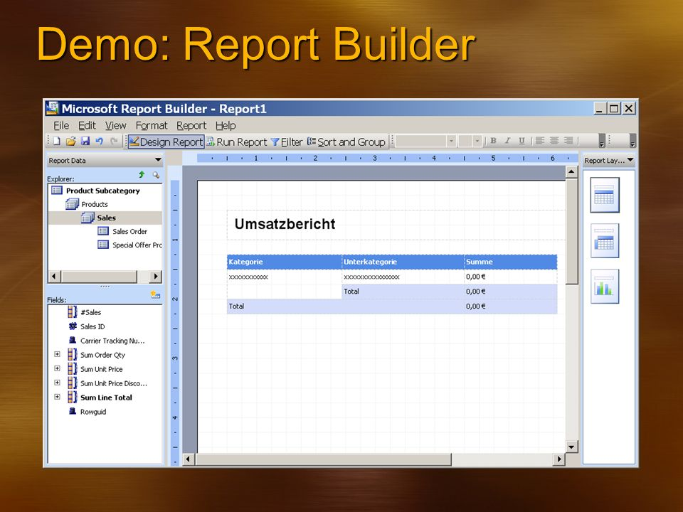 Demo: Report Builder