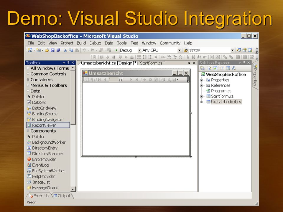 Demo: Visual Studio Integration