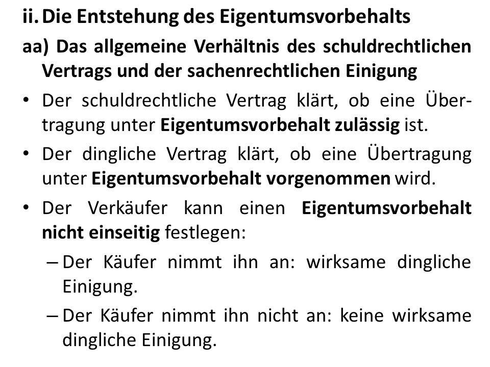 ii.Übertragbarkeit des Anwartschaftsrechts: nach h.M.