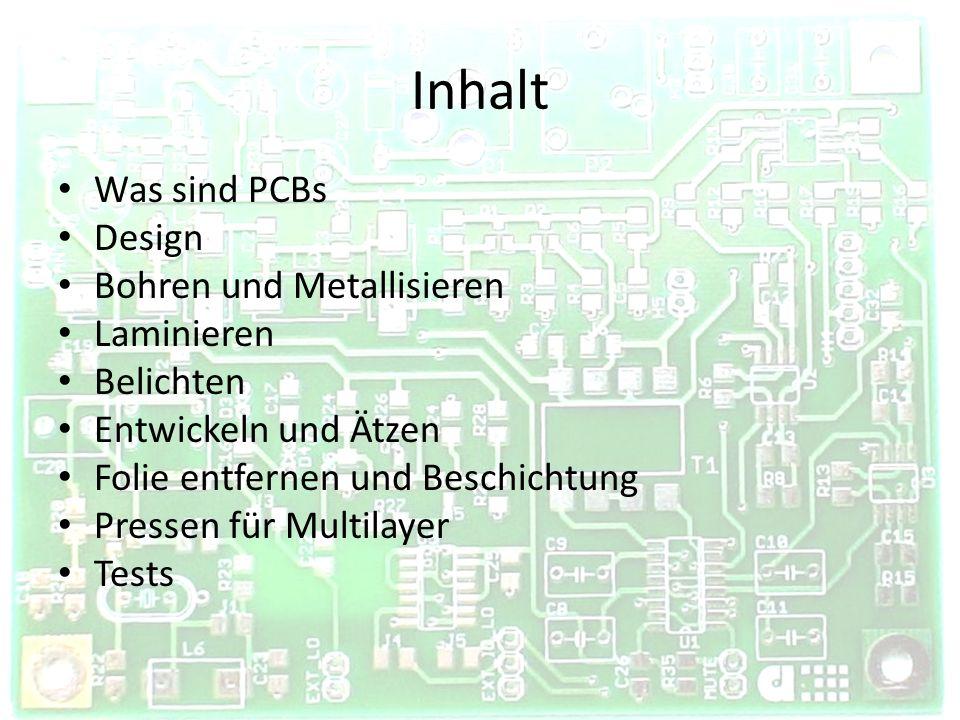 Was sind PCBs Printed Circuit Boards Leiterplatten für Computerschaltungen Glasfaserepoxidplatte (FR4) Beidseitige Kupferschicht Leitungen durchEntfernen von Kupfer Löcher für Kontakte Multilayer – Mehrschichtige PCBs http://www.xtremesystems.org/forums/showthread.