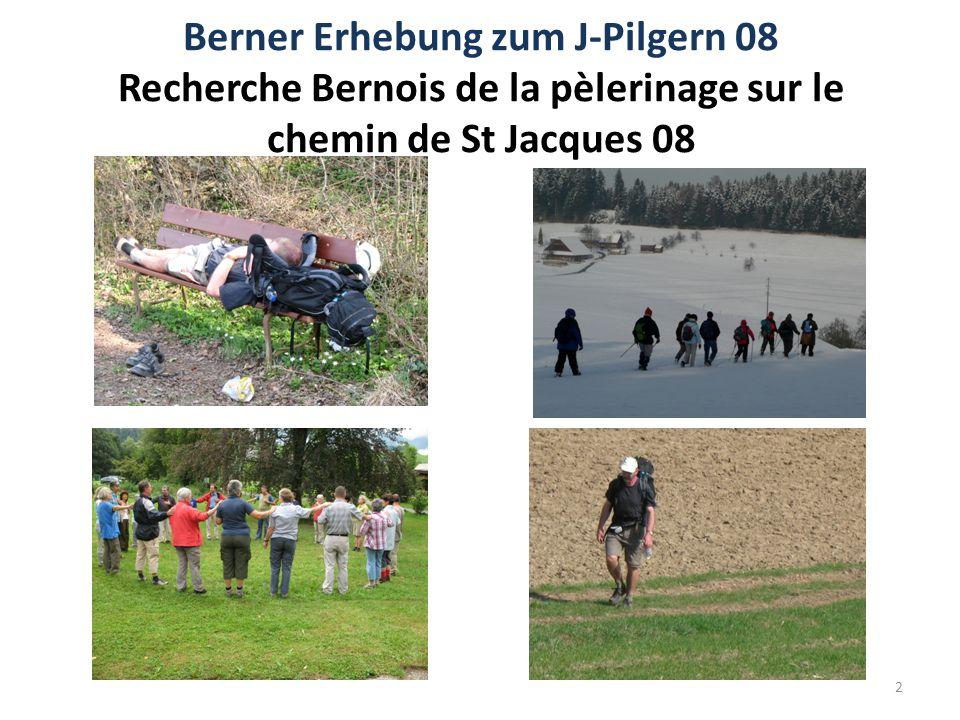 Berner Erhebung zum J-Pilgern 08 Recherche Bernois de la pèlerinage sur le chemin de St Jacques 08 2