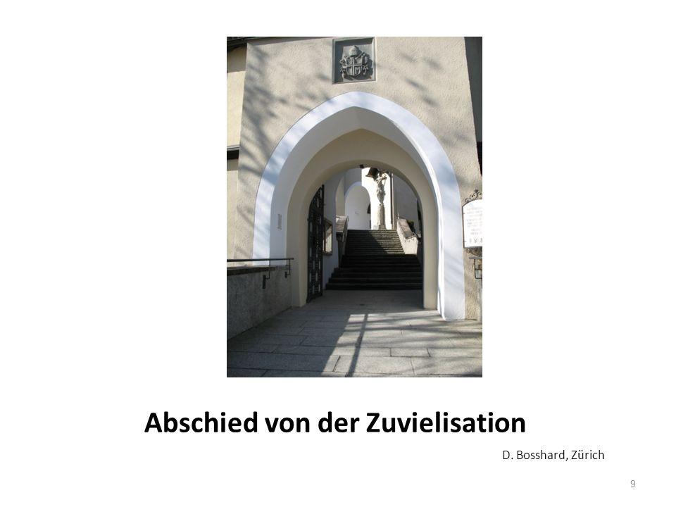 Abschied von der Zuvielisation D. Bosshard, Zürich 9
