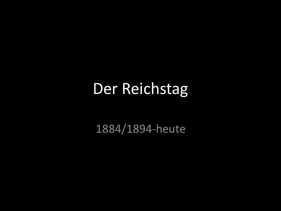 Der Reichstag 1884/1894-heute