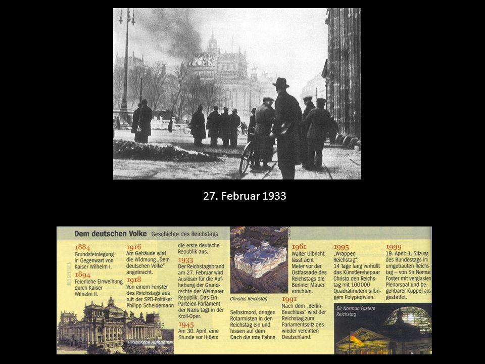 27. Februar 1933