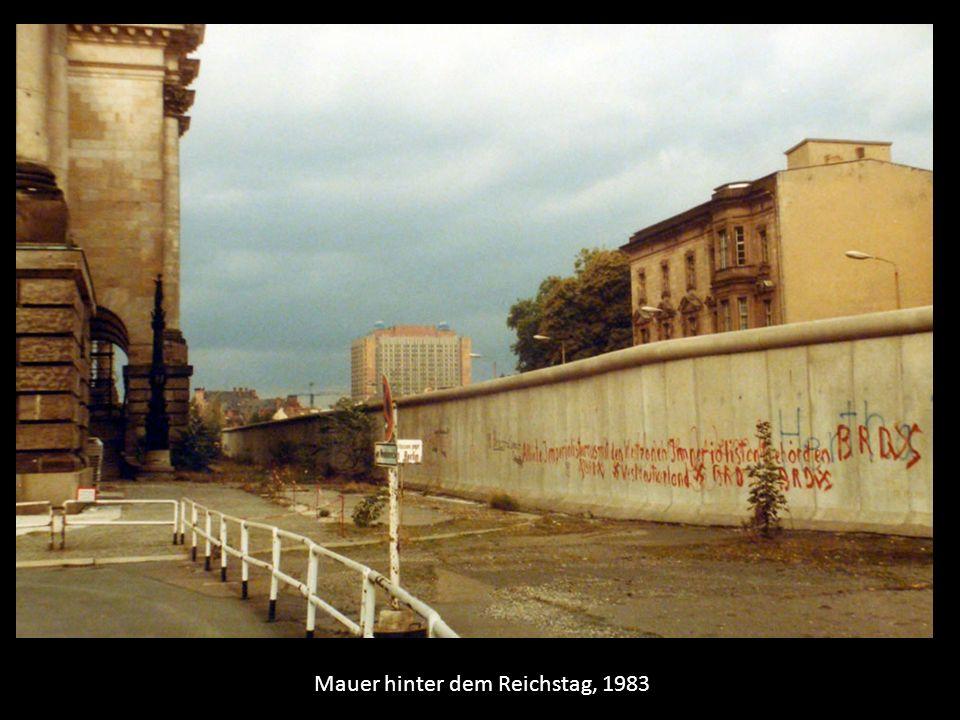Mauer hinter dem Reichstag, 1983