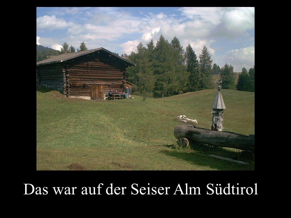 Das war auf der Seiser Alm Südtirol