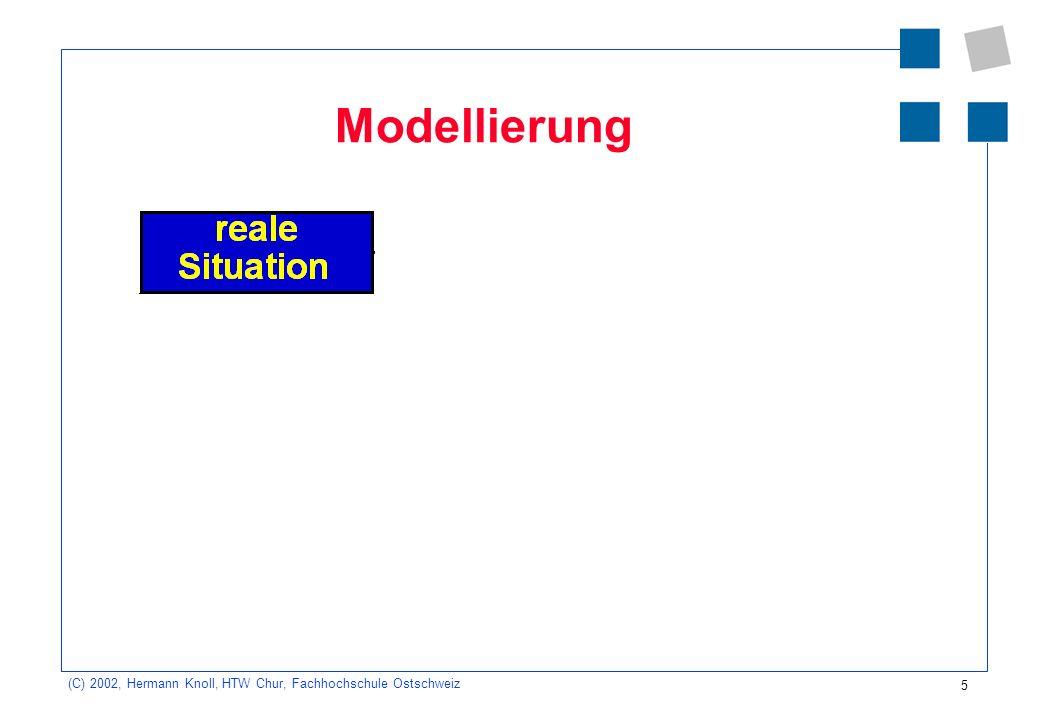 5 (C) 2002, Hermann Knoll, HTW Chur, Fachhochschule Ostschweiz Modellierung