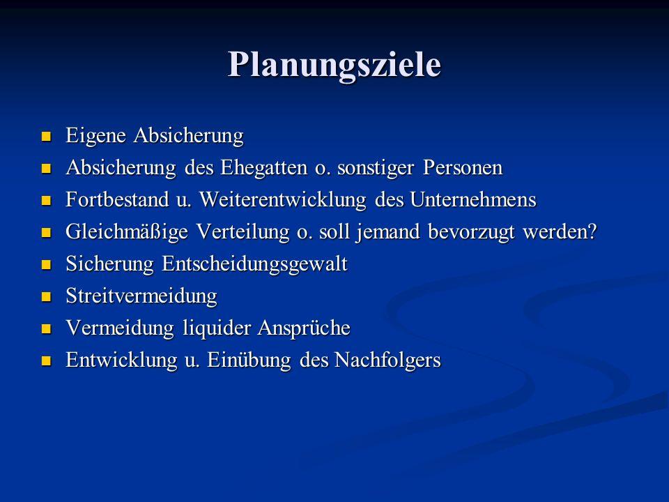 Planungsziele Eigene Absicherung Eigene Absicherung Absicherung des Ehegatten o. sonstiger Personen Absicherung des Ehegatten o. sonstiger Personen Fo
