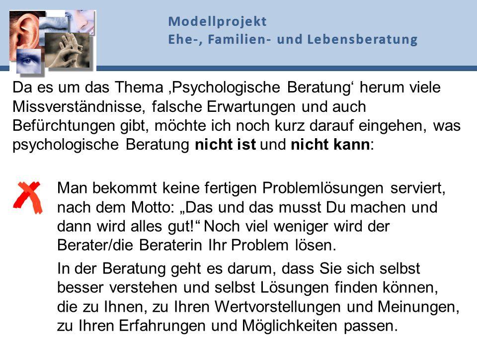 Da es um das Thema Psychologische Beratung herum viele Missverständnisse, falsche Erwartungen und auch Befürchtungen gibt, möchte ich noch kurz darauf