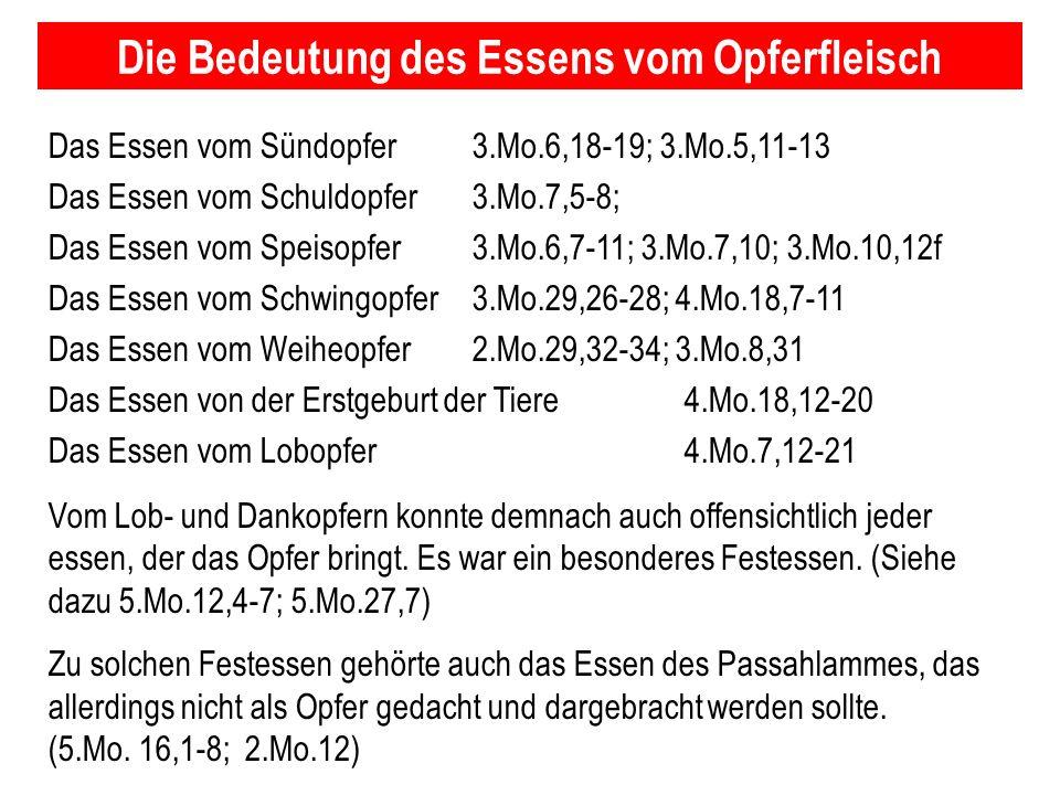 Seite 119PP_M50.ppt Heiligtum – Folien Teil 2www.hopeandmore.at Das Essen vom Sündopfer3.Mo.6,18-19; 3.Mo.5,11-13 Das Essen vom Schuldopfer3.Mo.7,5-8;