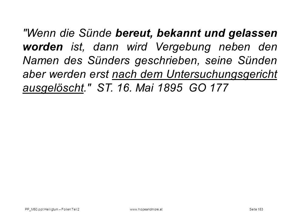 Seite 153PP_M50.ppt Heiligtum – Folien Teil 2www.hopeandmore.at