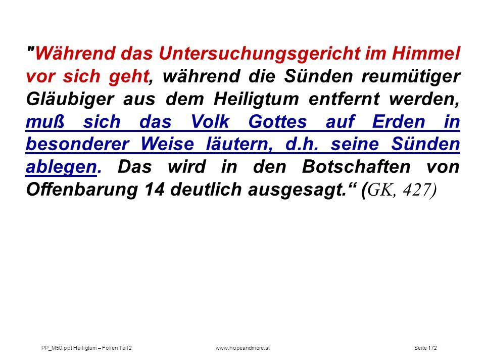 Seite 172PP_M50.ppt Heiligtum – Folien Teil 2www.hopeandmore.at