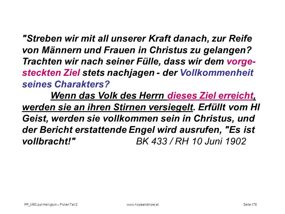 Seite 176PP_M50.ppt Heiligtum – Folien Teil 2www.hopeandmore.at