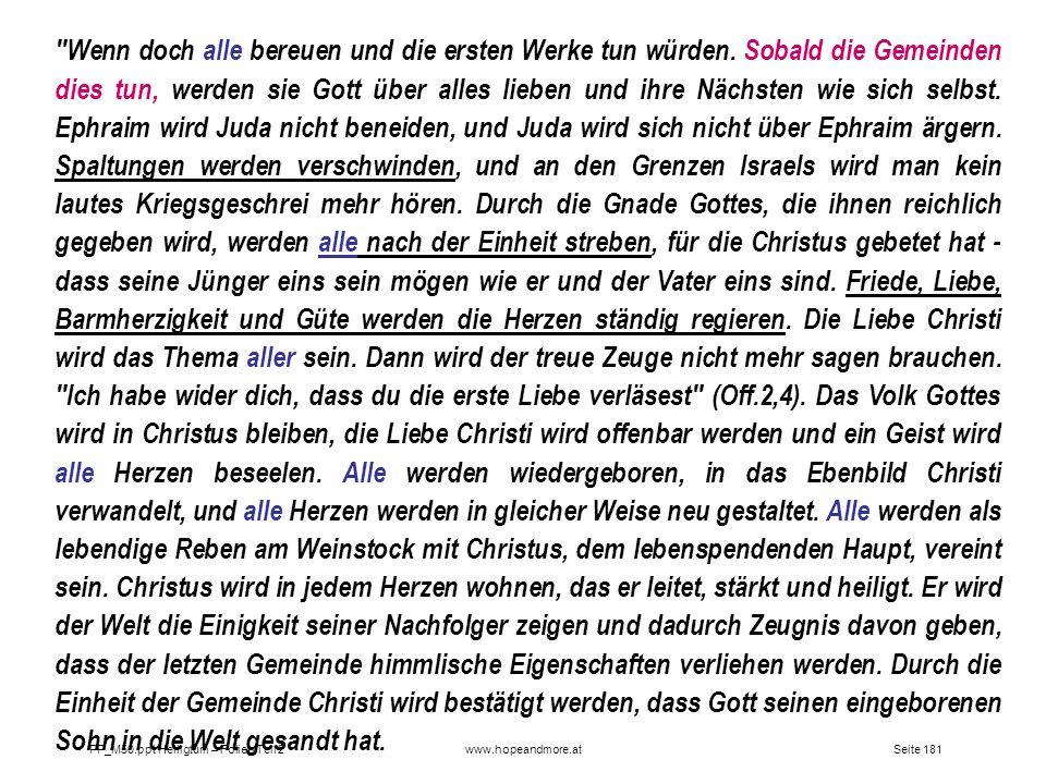 Seite 181PP_M50.ppt Heiligtum – Folien Teil 2www.hopeandmore.at
