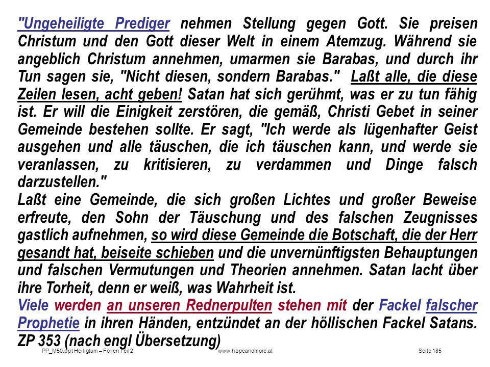 Seite 185PP_M50.ppt Heiligtum – Folien Teil 2www.hopeandmore.at