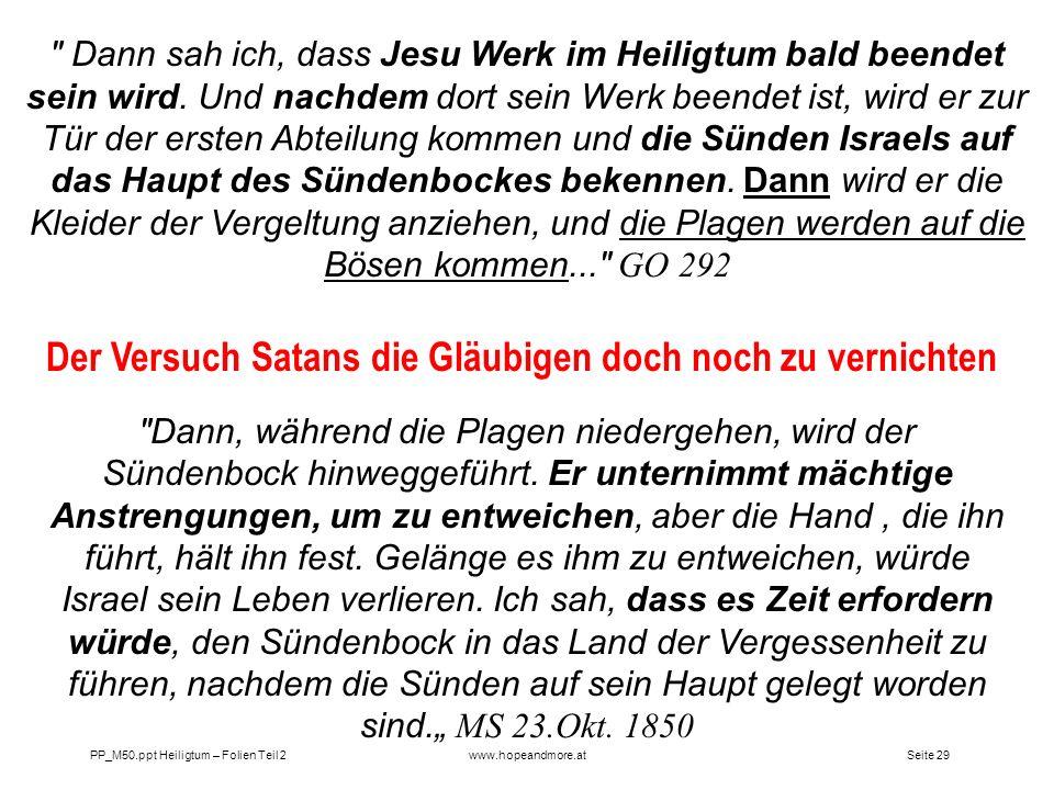 Seite 29PP_M50.ppt Heiligtum – Folien Teil 2www.hopeandmore.at