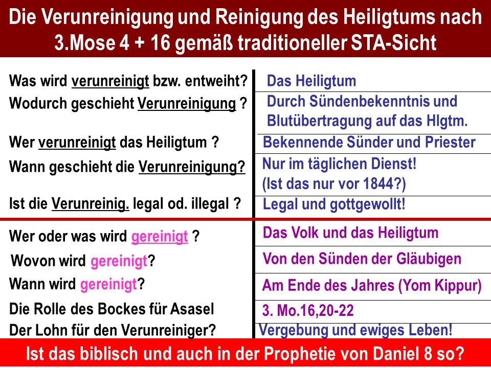 Seite 43PP_M50.ppt Heiligtum – Folien Teil 2www.hopeandmore.at Die Verunreinigung und Reinigung des Heiligtums nach 3.Mose 4 + 16 gemäß traditioneller
