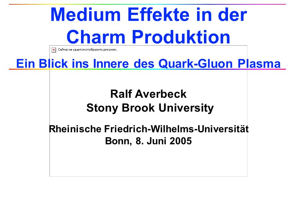 Ralf Averbeck, 2 Universität Bonn, 8.6.