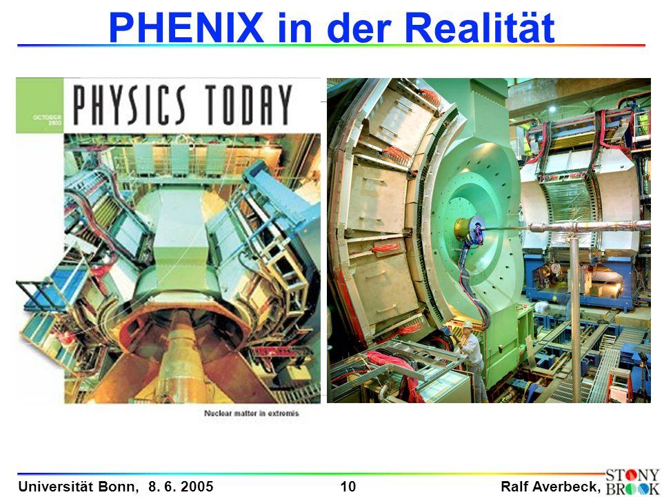 Ralf Averbeck, 10 Universität Bonn, 8. 6. 2005 PHENIX in der Realität