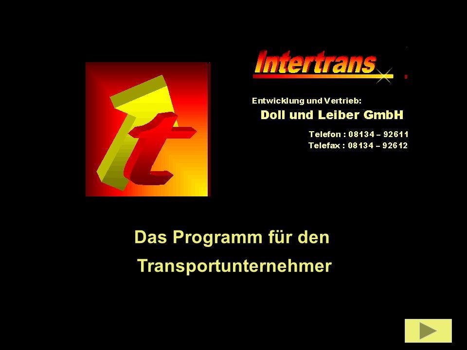 Das Programm für den Transportunternehmer