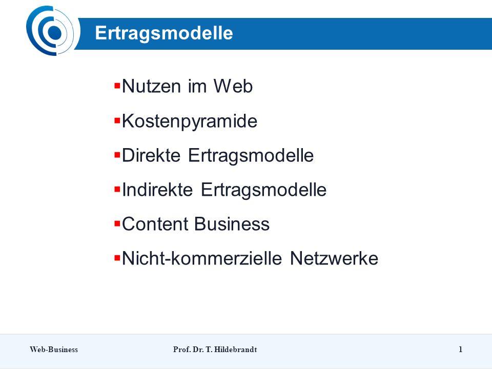 Ertragsmodelle Web-BusinessProf.Dr. T.