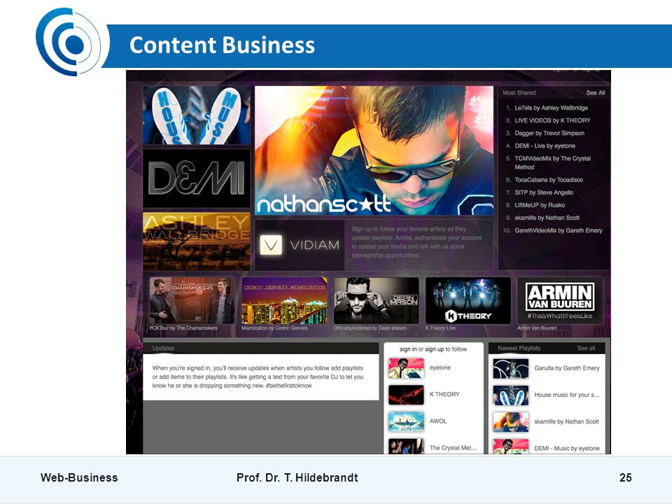 Content Business Web-BusinessProf. Dr. T. Hildebrandt25