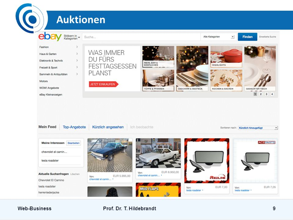 Auktionen Web-BusinessProf. Dr. T. Hildebrandt9