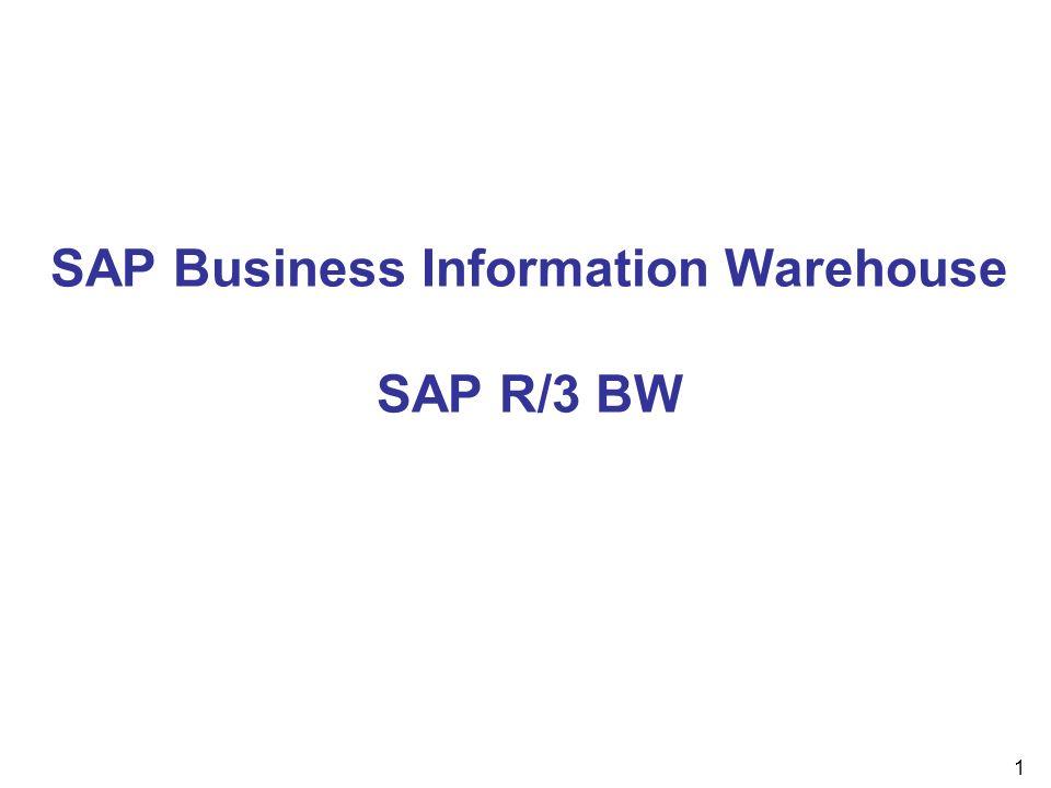 32 InfoCube InfoCubes sind die zentralen Objekte im SAP BW, auf denen Berichte und Analysen basieren.