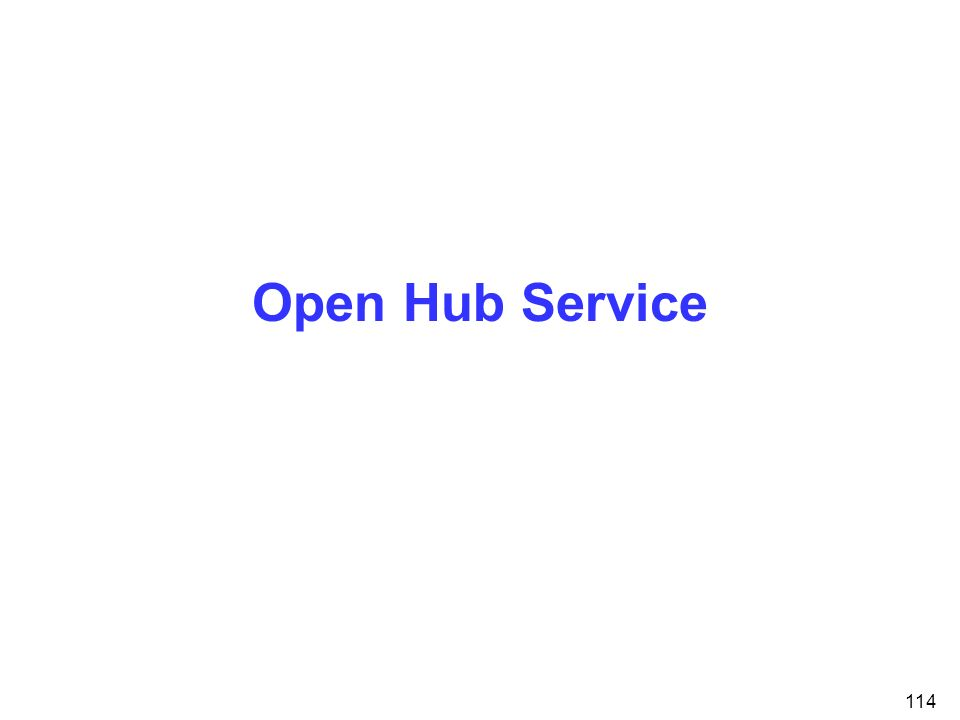 114 Open Hub Service