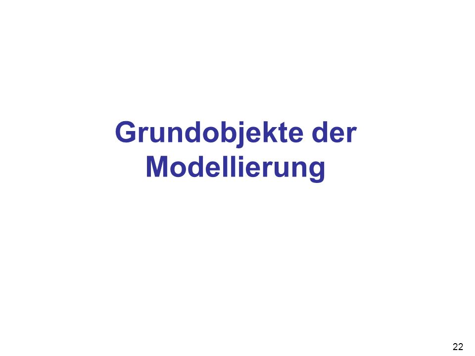 22 Grundobjekte der Modellierung