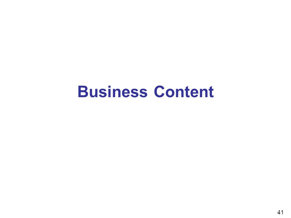 41 Business Content