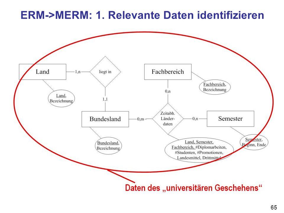 65 ERM->MERM: 1. Relevante Daten identifizieren