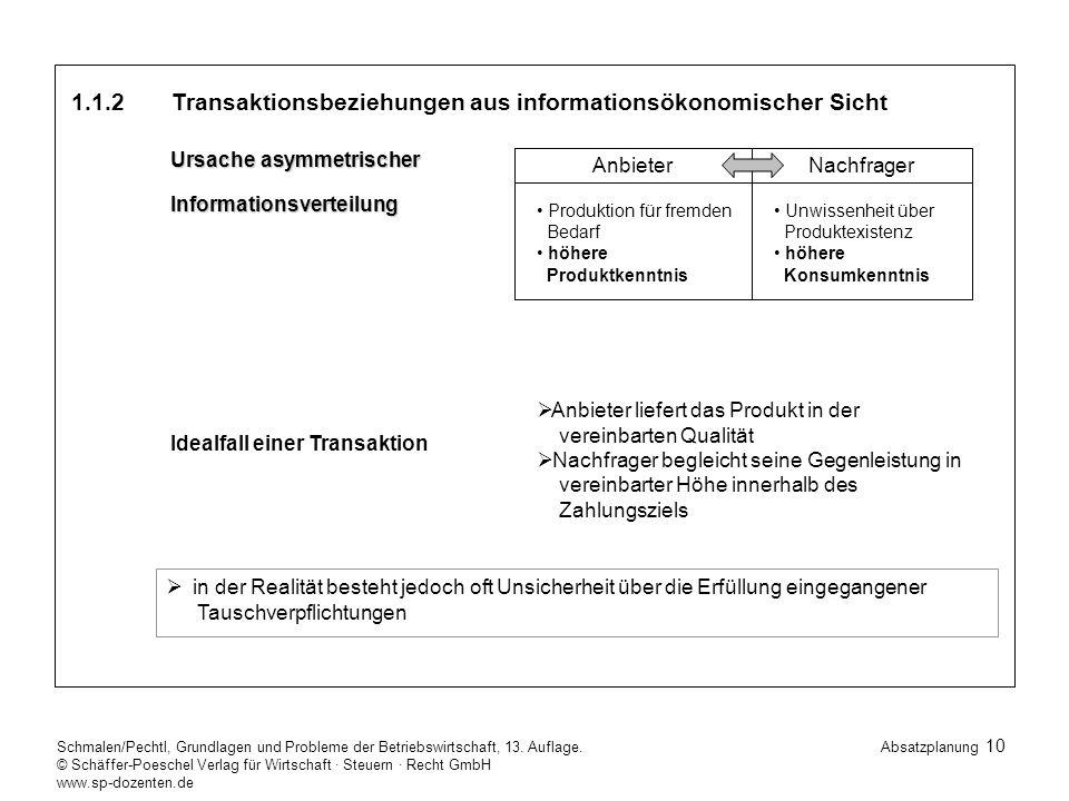 10 Schmalen/Pechtl, Grundlagen und Probleme der Betriebswirtschaft, 13.