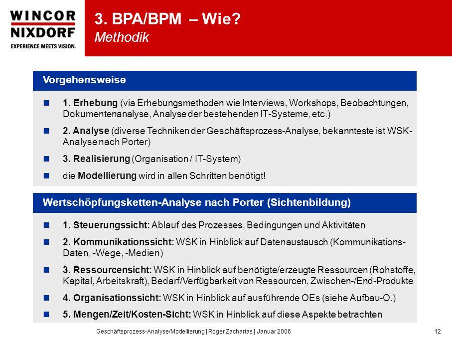 Geschäftsprozess-Analyse/Modellierung | Roger Zacharias | Januar 200612 3.