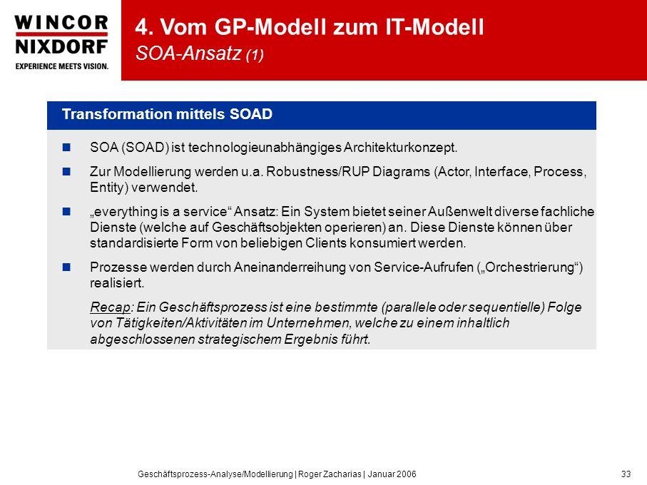 Geschäftsprozess-Analyse/Modellierung | Roger Zacharias | Januar 200633 4.
